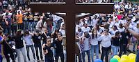 Catholic outdoor meeting in Nova Friburgo, preparation for World Youth Day 2013 in Rio de Janeiro, Brazil.