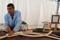 Festa Nazionale dell' Altra Economia. Roma. National Day for other economy. Rome..Eugenio Riccardi.Falegnameria ecologica e design. Ecological carpenter and design....