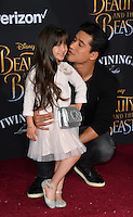 Mario Lopez &amp; Gia Francesca Lopez at the premiere for Disney's &quot;Beauty and the Beast&quot; at El Capitan Theatre, Hollywood. Los Angeles, USA 02 March  2017<br /> Picture: Paul Smith/Featureflash/SilverHub 0208 004 5359 sales@silverhubmedia.com