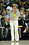03 APR 2012: Coach Kim Mulkey of Baylor University during the Division I Women's Basketball Championship held at the Pepsi Center in Denver, CO. Stephen Nowland/NCAA Photos