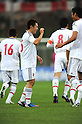 Manabu Saito (JPN),.MAY 25, 2012 - Football / Soccer :.Manabu Saito of Japan celebrates with his teammate Hiroshi Ibusuki after scoring their first goal during the 2012 Toulon Tournament Group A match between U-23 Japan 3-2 U-21 Netherlands at Stade de l'Esterel in Saint-Raphael, France. (Photo by FAR EAST PRESS/AFLO)