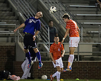 The number 24 ranked Furman Paladins took on the number 20 ranked Clemson Tigers in an inter-conference game at Clemson's Riggs Field.  Furman defeated Clemson 2-1.  Tyler Peoples (15), Alex Stockinger (7)