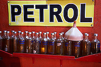 Petrol filling station in the alley.<br />