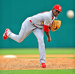 7 March 2012: St. Louis Cardinals pitcher Tyrell Jenkins on the mound against the Washington Nationals at Space Coast Stadium in Viera, Florida. The teams battled to a 3-3 tie in Grapefruit League Spring Training action. Mandatory Credit: Ed Wolfstein Photo