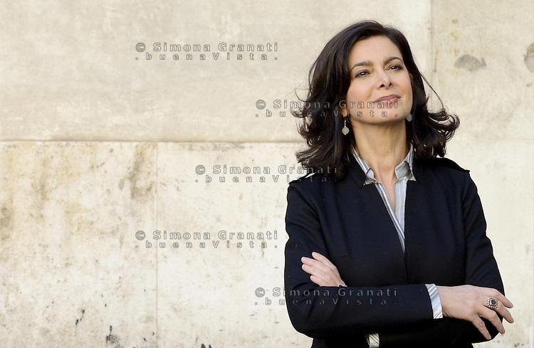 Roma, 7 Gennaio 2013.Sinistra ecologia e Libertà presenta i capilista per le elezioni politiche..Laura Boldrini , portavoce dell'alto commissario ONU per i rifugiati