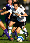 31 August 2007: University of Vermont Catamounts Caitlin McGowan (13), battles Sara Curry (26), a Sophomore from Canyon Lake, Texas during a game against the University of Central Arkansas Sugar Bears at Historic Centennial Field in Burlington, Vermont. The Catamounts defeated the Sugar Bears 1-0 during the TD Banknorth Soccer Classic...Mandatory Photo Credit: Ed Wolfstein Photo