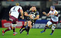 Dmitri Arhip of the Ospreys in possession. European Rugby Champions Cup match, between the Ospreys and Bordeaux Begles on December 12, 2015 at the Liberty Stadium in Swansea, Wales. Photo by: Patrick Khachfe / JMP
