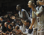 "Ole Miss forward Terrance Henry (1) cheers at C.M. ""Tad"" Smith Coliseum in Oxford, Miss. on Saturday, December 4, 2010."