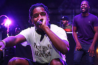 BRONX, NY - AUGUST 11, 2016 ASAP Rocky performs at the Barcardi x Dean Collection, No Commission Art Performs event, August 11, 2016 Bronx, New York. Photo Credit: Walik Goshorn / Mediapunch