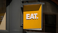 Eat, Take Away Food Shop, London, Britain - June 2014.