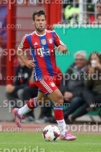 17.08.2014, Preussenstadion, Muenster, GER, DFB Pokal, SC Preussen Muenster vs FC Bayern Muenchen, 1. Runde, im Bild Sommer-Neuzugang Juan Bernat (FC Bayern Muenchen #18) // during the 1st round match of German DFB Pokal between SC Preussen Muenster vs FC Bayern Munich at the Preussenstadion in Muenster, Germany on 2014/08/17. EXPA Pictures &copy; 2014, PhotoCredit: EXPA/ Eibner-Pressefoto/ Schueler<br /> <br /> *****ATTENTION - OUT of GER*****