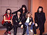Black Sabbath 1985 Geoff Nicholls, Tony Iommi, Dave Spitz, Eric Singer, Glenn Hughes.© Chris Walter..BLACK SABBATH early 1970's