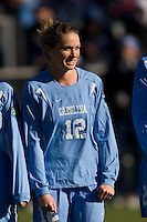 North Carolina Tar Heels forward Sterling Smith (12). The North Carolina Tar Heels defeated the Notre Dame Fighting Irish 2-1 during the finals of the NCAA Women's College Cup at Wakemed Soccer Park in Cary, NC, on December 7, 2008. Photo by Howard C. Smith/isiphotos.com