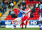 St Johnstone v Kilmarnock.....09.03.13      SPL.Chris Millar and Sammy Clingan.Picture by Graeme Hart..Copyright Perthshire Picture Agency.Tel: 01738 623350  Mobile: 07990 594431