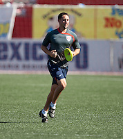 Equipment Coordinator Jason Peters at training before the 2009 CONCACAF Under-17 Championship From April 21-May 2 in Tijuana, Mexico