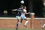 28 September 2014: Notre Dame's Cari Roccaro (5) and Wake Forest's Kendall Fischlein (right). The Wake Forest University Demon Deacons hosted the Notre Dame University Fighting Irish at W. Dennie Spry Soccer Stadium in Winston-Salem, North Carolina in a 2014 NCAA Division I Women's Soccer match.