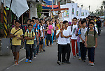 Children walk in a religious procession in Tanauan, a city in the Philippines province of Leyte that was hit hard by Typhoon Haiyan in November 2013. The storm was known locally as Yolanda. ACT Alliance members are working here and throughout the affected region to help people recover and rebuild in the wake of the massive storm.