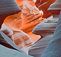 Antelope Canyon, Near Page Arizona, Navajo Nation, Fluid Shapes, slot canyon
