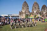 Festival Monkey Dancers perform at Wat Phra Prang Sam Yot