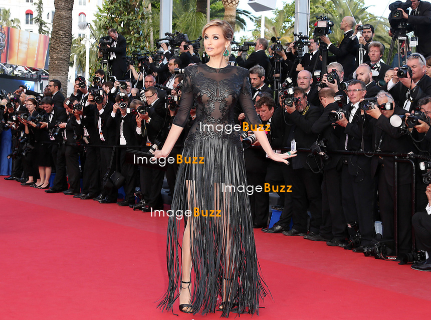 "Adriana Karembeu attends the "" Behind The Candelabra' "" premiere during The 66th Annual Cannes Film Festival at The 60th Anniversary Theatre on May 21, 2013 in Cannes, France."