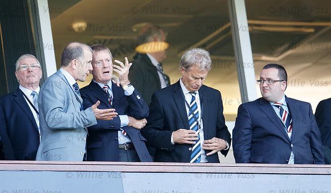 SFA chief exec Stewart Regan with Dave King and Alastair Johnstone