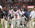 Ole Miss cornerback Charles Sawyer (3) at Bryant-Denny Stadium in Tuscaloosa, Ala.  on Saturday, October 16, 2010. Alabama won 23-10.