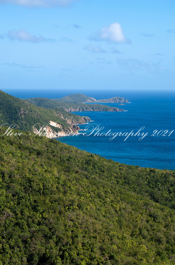 South Shore <br /> Virgin Islands National Park from Sky Top<br /> St. John<br /> U.S. Virgin Islands