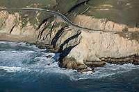 aerial photograph Highway One Pacific coast San Mateo County, California