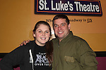 """castmember Craig Colasanti poses with his daughter at 7th Anniversary of Layon Gray's """"Black Angels Over Tuskegee"""" - Straighten Up Fly Right - cast -  on February 10, 2017 at St. Luke's Theatre, New York City, New York. (Photo by Sue Coflin/Max Photos)"""