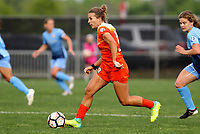 Piscataway, NJ - Saturday May 20, 2017: Amber Brooks during a regular season National Women's Soccer League (NWSL) match between Sky Blue FC and the Houston Dash at Yurcak Field.  Sky Blue defeated Houston, 2-1.