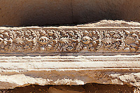 Fragment of sculpted stone. Palmyra, Syria. Ancient city in the desert that fell into disuse after the 16th century.