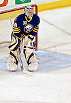 9 December 2006: Buffalo Sabres goalie Ryan Miller (30)  pauses during a break against the Montreal Canadiens at the Bell Centre in Montreal, Canada. The Sabres defeated the Canadiens 3-2 in a shootout, taking their third contest in the month of December. Mandatory Photo credit: Ed Wolfstein Photo<br />  *** Editorial Sales through Icon Sports Media *** www.iconsportsmedia.com
