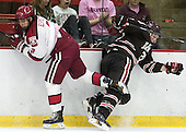 Luke Esposito (Harvard - 9), Davey Middleton (Brown - 21) - The visiting Brown University Bears defeated the Harvard University Crimson 2-0 on Saturday, February 22, 2014 at the Bright-Landry Hockey Center in Cambridge, Massachusetts.