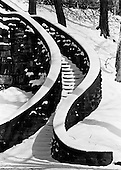 A stairway in Rockefeller Park on Clevelands east side forms a graceful composition in the snow.