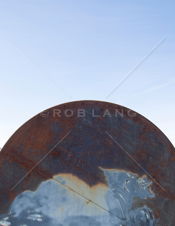 abstract of an oil tank in New Mexico