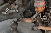 Pottery at Bhaktapur, Layaku Nepal