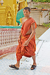 Monk At Phnom Sampeau Pagoda