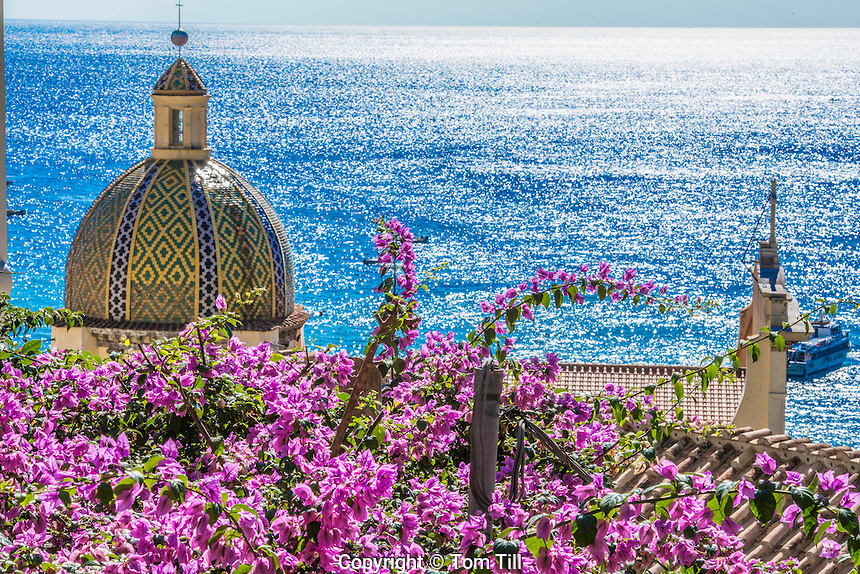 Church at Positano,Amalfi Coast, Italy,Tyrrhenian Sea, Near Naples