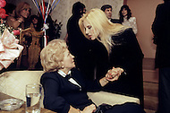 "Las Vegas, U.S.A, December, 1982. French singer Sylvie Vartan at the MGM Hotel with her mother ""Nene"", Ilona Mayer (7 Dec 1914 - 28 June 2007)."