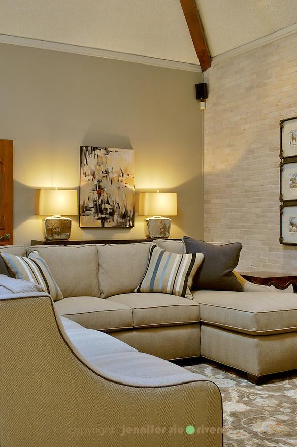 Castle Hills residence living room