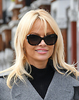 Pamela Anderson sends letter to Prime Minister Theresa May to ban wild-life circuses, and support PETA, during flying visit to London, England October 12, 2016.<br /> CAP/JOR<br /> &copy;JOR/Capital Pictures /MediaPunch ***NORTH AND SOUTH AMERICAS ONLY***