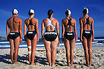 BONDI LIFESAVING DRILL PRACTICE.BONDI BEACH SYDNEY NSW AUSTRALIA 10/03/1999.©David Dare Parker/Network Photographers