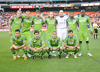Seattle Sounders starting elven.  DC United defeated The Seattle Sounders 2-1, at RFK Stadium, Wednesday  May 4, 2011.