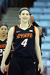 19 November 2014: Oklahoma State's Liz Donohoe. The University of North Carolina Tar Heels hosted the Oklahoma State University Cowgirls at Carmichael Arena in Chapel Hill, North Carolina in a 2014-15 NCAA Division I Women's Basketball game. UNC won the game 79-77.