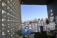 Standard Hotel part of Andre Balazs Properties,  Manhattan, New York City, New York, USA designed by Polshek Partnership Architects, Rooftop Bar