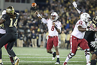 Annapolis, MD - December 27, 2016: Temple Owls quarterback Phillip Walker (8) throws a pass during game between Temple and Wake Forest at  Navy-Marine Corps Memorial Stadium in Annapolis, MD.   (Photo by Elliott Brown/Media Images International)