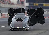 Nov 12, 2016; Pomona, CA, USA; NHRA top alcohol funny car driver Bryan Brown during qualifying for the Auto Club Finals at Auto Club Raceway at Pomona. Mandatory Credit: Mark J. Rebilas-USA TODAY Sports