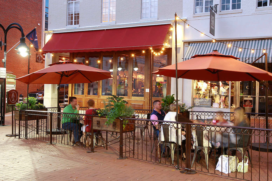 Red Pump restaurant on the Downtown Mall in Charlottesville, Va. Photo/Andrew Shurtleff
