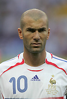 Zinedine Zidane.   Italy defeated France on penalty kicks after leaving the score tied, 1-1, in regulation time in the FIFA World Cup final match at Olympic Stadium in Berlin, Germany, July 9, 2006.