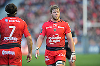 Duane Vermeulen of Toulon looks on during a break in play. European Rugby Champions Cup match, between RC Toulon and Bath Rugby on January 10, 2016 at the Stade Mayol in Toulon, France. Photo by: Patrick Khachfe / Onside Images